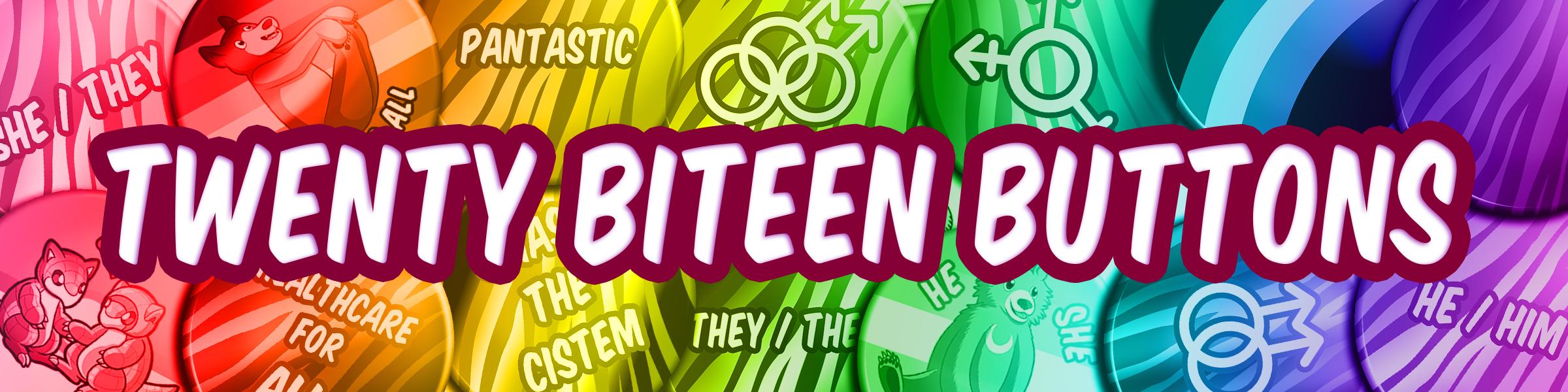 Twenty Biteen Buttons